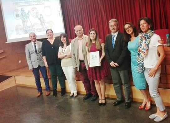 De izquierda a derecha, Juan Gomis, Kirsty Hooper, Carmen Espejo, Antonio Checa, Inmaculada Casas, Antonio Castillo, Aurora Labio y Lorena Romero.